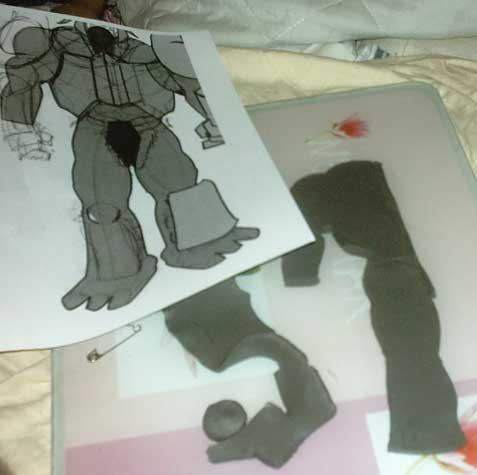 nouvelle armure in progress pour animest Trollmodelage1